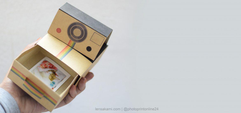 graphic relating to Polaroid Camera Printable named DIYPrintable template Polaroid Storage Box LensaKami